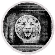 Lion Of Rome Round Beach Towel