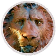 Lion Of Saint Augustine Round Beach Towel