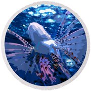 Lion Of The Deep Round Beach Towel