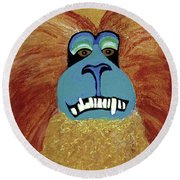 Lion-tailed Macaque Round Beach Towel