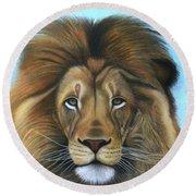 Lion - The Majesty Round Beach Towel