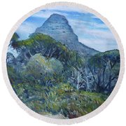Lions Head Cape Town South Africa 2016 Round Beach Towel