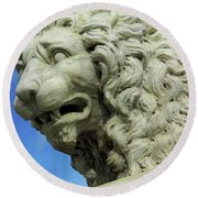 Lions Roar Round Beach Towel