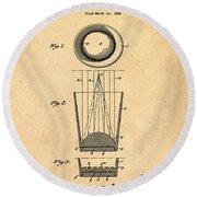 Liquershot Glass Patent 1925 Sepia Round Beach Towel