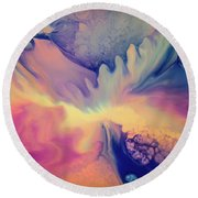 Liquid Abstract Nebula Round Beach Towel