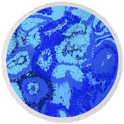 Liquid Blue Dream - V1cbs30 Round Beach Towel