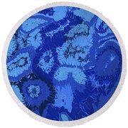 Liquid Blue Dream - V1lle30 Round Beach Towel