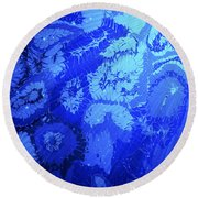 Liquid Blue Dream - V1lllt90 Round Beach Towel