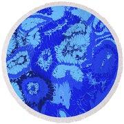 Liquid Blue Dream - V1sl100 Round Beach Towel