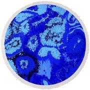 Liquid Blue Dream - V1vhkf100 Round Beach Towel
