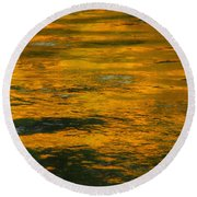Liquid Fire Round Beach Towel