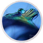 Liquid Fortune Round Beach Towel