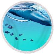 Liquid Gems Round Beach Towel