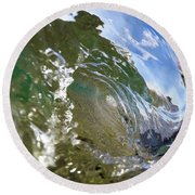 Liquid Glass Round Beach Towel