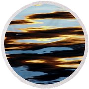 Liquid Setting Sun Round Beach Towel