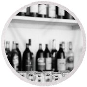 Liquor Bottles Round Beach Towel