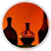 Liquor Still Life Round Beach Towel