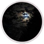 Lisas Wildlife Moons Round Beach Towel
