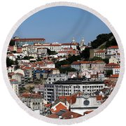 Lisbon 18 Round Beach Towel