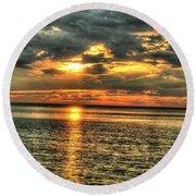 L.i.sound Sunset Round Beach Towel