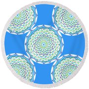 Listen And Take Action I Round Beach Towel