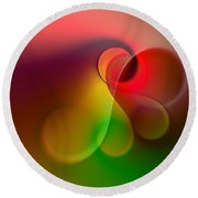 Listen To The Sound Of Colors -1- Round Beach Towel
