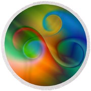 Listen To The Sound Of Colors -2- Round Beach Towel by Issabild -