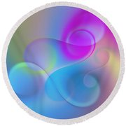 Listen To The Sound Of Colors -3- Round Beach Towel