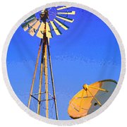 Listening Station Round Beach Towel
