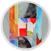 Little Abstract Round Beach Towel