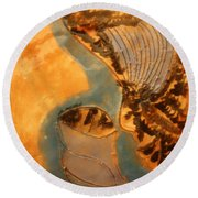 Little Angel - Tile Round Beach Towel