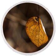 Little Autumn Leaf Round Beach Towel