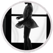 Little Ballerina Round Beach Towel