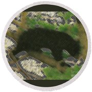 Little Bear Round Beach Towel
