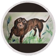 Little Big Man Round Beach Towel