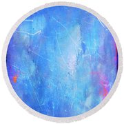 Little Boy Blue Round Beach Towel