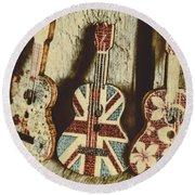 Little Britain, Big Sounds Round Beach Towel