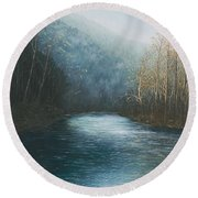 Little Buffalo River Round Beach Towel by Mary Ann King