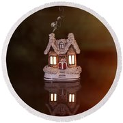 Little Ceramic House Round Beach Towel