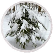 Little Christmas Tree Round Beach Towel