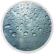 Little Drops Of Rain Round Beach Towel
