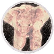 Little Elephant Round Beach Towel