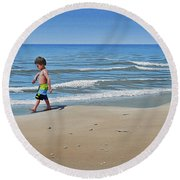 Little Explorer Round Beach Towel