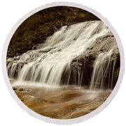Little Falls Round Beach Towel