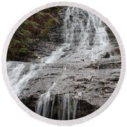 Little Falls Two  Round Beach Towel