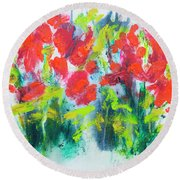 Little Garden 01 Round Beach Towel