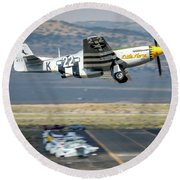 P51 Mustang Little Horse Gear Coming Up Friday At Reno Air Races 5x7 Aspect Round Beach Towel