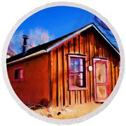 Little House In Lincoln Round Beach Towel