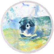 Little Lady Gwilwilith Round Beach Towel