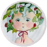 Little Miss Innocent Ivy Round Beach Towel